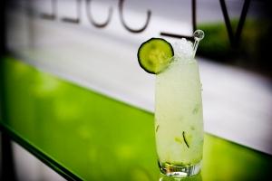 Cucumber Lime Swizzle